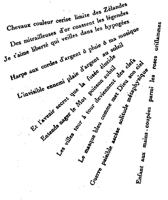 Calligrammes Apollinaire