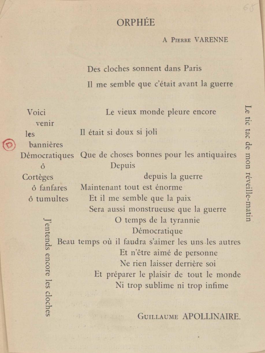 Poèmes publiés du vivant d'Apollinaire, 1901 1918 (hors