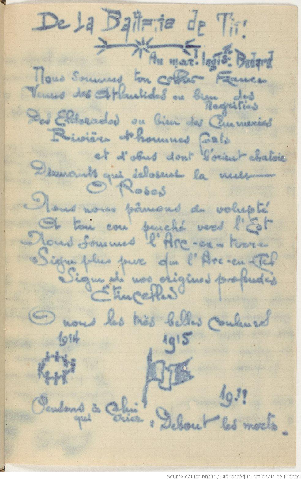 Poèmes Publiés Du Vivant Dapollinaire 1901 1918 Hors